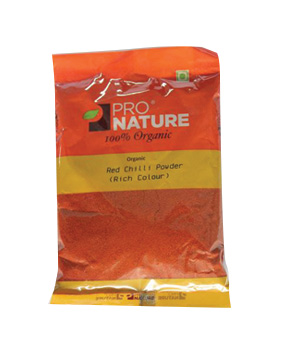 Pro Nature Organic - Red Chilli Powder (Rich Colour)