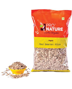Pro Nature Organic-Red Beaten Rice(Red Poha)