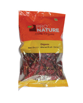 Pro Nature Organic - Red Chilli Whole (Rich Colour)