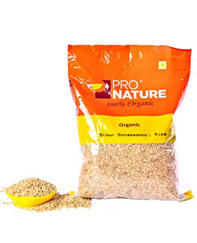 Pro Nature Organic -Brown Sonamasoori Rice(1kg)